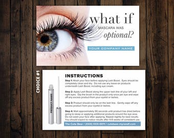 Rodan and Fields Business Card, Lash Boost Card, Instructions, R and F, RF, Printable, Digital