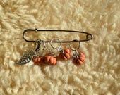 4 anneaux marqueurs pour le tricot + housse de rangement + marqueur repositionnable - Citrouilles - Bobine & Pelote
