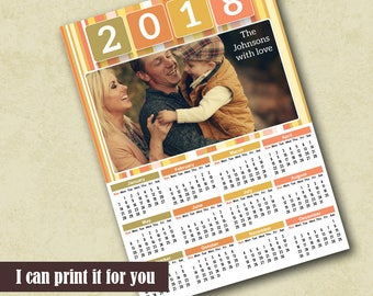 2018 Poster Calendar Template Family Photo Calendar 2018 Template Calendar Photoshop Template 2018 Photo Calendar Template Photo Calendar