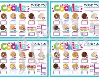 2018 Girl Scout Cookie Mini Order Form - Printable