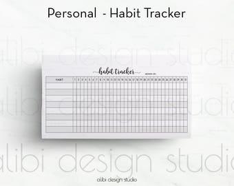 Habit Tracker, Personal Planner, Daily Habit Tracker, Goal Planner, Personal Inserts, Goal Tracker, Monthly Planner, Habit Tracker Printable