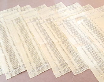 Set of 8 Wonderful Yellow Linen Napkins