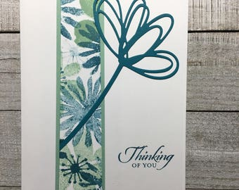 Thinking Of You Handmade Card - Botanical