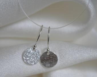 Disc Coin Earrings Silber925 Platelet disc Coins Earrings Silver925