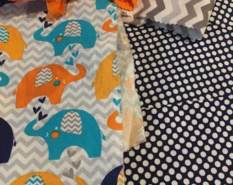 Colorful Elephant Baby Quilt