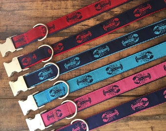 Maine Lobster Dog Collar, Maine Lobster, Nautical Dog Collar, Lobster Collar