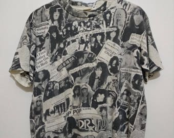 VINTAGE 90's Motley Crue L Fans Are The Best Full Print Concert Heavy Metal