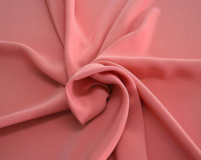 305112-Crepe marocaine Natural Silk 100%, width 130/140 cm, made in Italy, dry cleaning, weight 215 gr