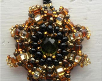 Sunburst Beadwoven Necklace