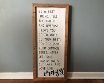 Favorite Long Quote Sign in Thick Wooden Frame