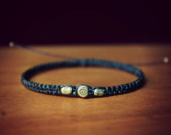 Sterling Silver Midnight Blue Beads Bracelet