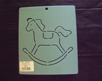 Quilting Stencil 5 in. Rocking Horse Block/Embroidery/Holiday Crafting/Baby Gifts