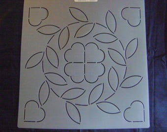 Sashiko Japanese/Traditional Embroidery/Quilting Stencil 11 in. Bridal Wreath Block