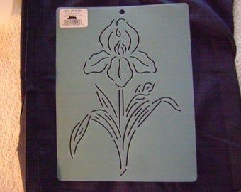 Sashiko Japanese Embroidery Stencil 8 in. Iris Motif Block/Quilting