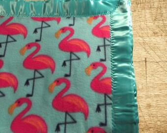 Flamingo Turquoise Throw