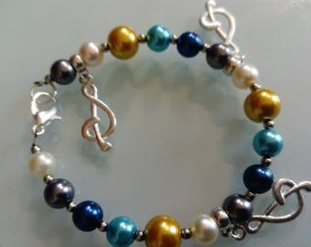 Bracelet multicolored Perly and charms