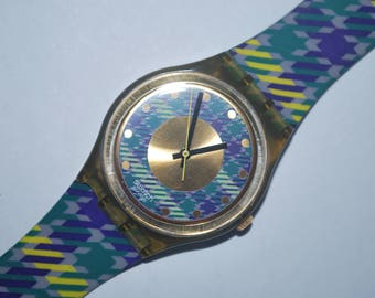 1992 Vintage Swatch Watch GM-109 TAILLEUR Gents Ladies Swiss Quartz Free battery Free Shipping