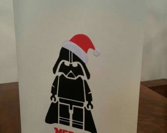 Darth Vader - Merry Christmas - Greeting Card - Sith Lord - Star Wars - Happy Christmas - Xmas - blank card - Padawan - Geek -