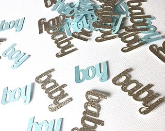 Baby boy confetti.   Baby shower confetti.  Boy baby shower decorations.   Blue and gold baby shower.  Its a boy confetti. Gender reveal