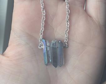 Purple Tinted Quartz Necklace