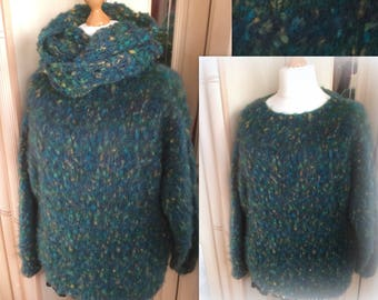 Peacock Fluffy Sweater