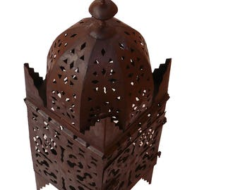 Moroccan lantern from Iron Marrakech hand forged 40 cm, rust
