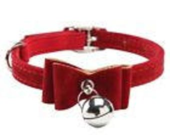 Small Red Collar with Bell (cat or dog)
