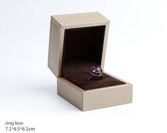 Gold Jewelry Box/ Velvet Gift Boxes/ Paper Ring Pendant Necklace Package /Boxes Marriage Proposal Engagement Ring Box 163