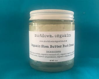 Organic Shea Butter Foot Cream - 4 oz