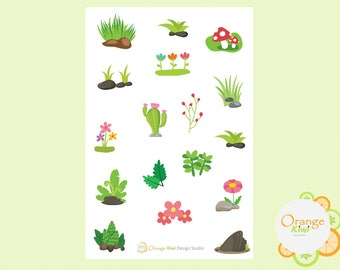 Flowers, Branches, Greenery Stickers, Planner Stickers