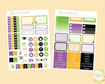 Halloween Mini Kit, Halloween Candy Corn, Erin Condren Life Planner, Planner Stickers, Plum Paper, Filofax, Mambi