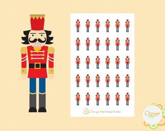 Nutcracker Stickers, Christmas Stickers, Planner Stickers