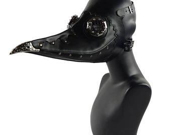 Plague Doctor Mask Bird Beak Spike Halloween Cosplay Mask