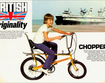 Metal Sign  Wall Art -  The Iconic 70's  Raleigh Chopper Bicycle.
