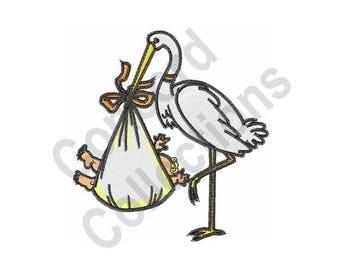 Stork - Machine Embroidery Design