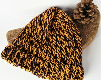 Purple baby hat, yellow baby hat, yellow baby beanie, knitted baby hat, handmade, sale, loomknit, wool baby hat, knit baby hat, new mum gift