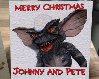 Personalised Gremlins Christmas Card