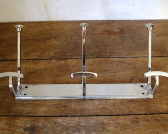 art deco chrome coat rack
