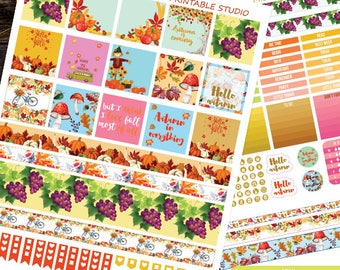 Mini Happy Planner,September Planner Stickers Printable, Autumn Kit Mini Happy planner, Weekly Kit ,Instant download,Fall Planner