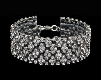 Claire Clear Crystal Competition Bracelet for IFBB and NPC Bikini Fitness Bodybuilding Contests