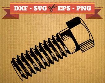 Visez le fichier SVG, vise sihouette, des fichiers vectoriels pour cricut, boulon de fichiers Dxf, fichiers DXF boulons, but de fichiers Svg, logement, fichiers de découpe au laser