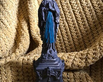 Our Lady of Lourdes statue.