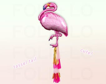 "38"" FLAMINGO BALLOON | Party Decoration | Pool Party Decor | Flamingo Party Theme | Pink Balloon | Animal Party Theme | BBQ Party Decor"