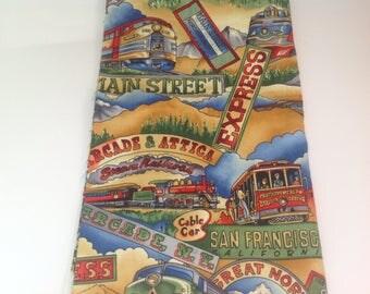 Train and Trolley Fabric | Fat Quarter