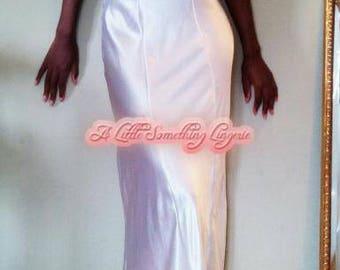 silk nightgown White silk slip dress white silk nightdress long silk nightgown wedding nightgown bridal nightgown honeymoon nightgown UK