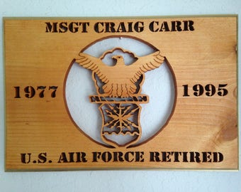 Air Force years of service plaque