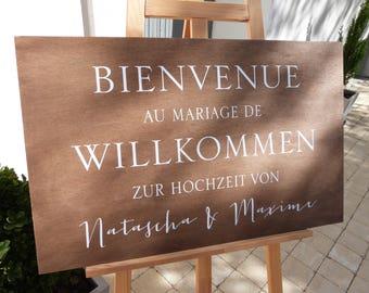 Panneau mariage . Pannau personnalisable pour mariage. Pancarte mariage