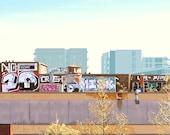 """Graffiti 14""""x6""""..."""