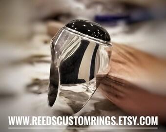 Black Onyx Sterling Silver Ring - Black Onyx Ring - Onyx Gemstone Ring - Sterling Silver Ring - Silver Black Onyx Ring - Onyx Gem Ring