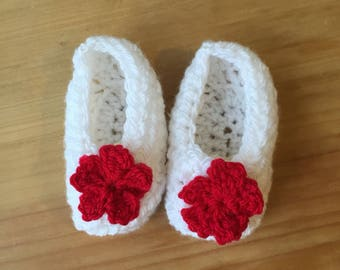 Baby booties made to order; crochet baby shoes; custom booties keepsake